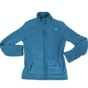 North Face Osito Teal Fleece High Neck Zip Jacket